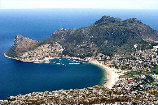 Aerial view of Houtbay
