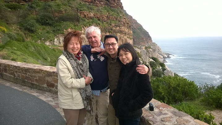 Mark Tang and his friends from Singapore