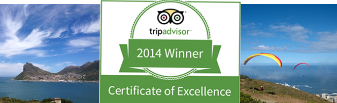 Cape Splendour - Certificate of Excellence for 2014