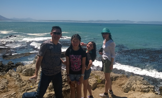 Whale spotting from the cliffs of Hermanus